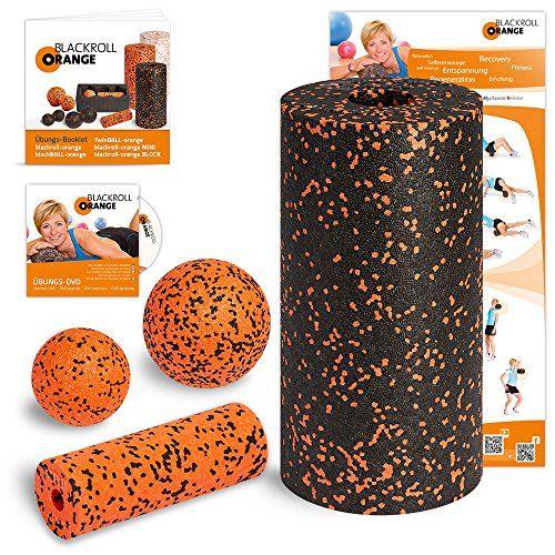 Die Original Blackroll Orange Rückenrolle im Set