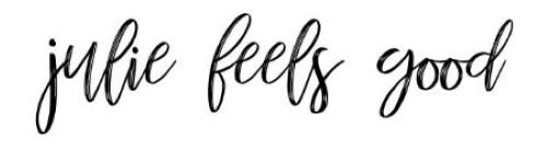 Die besten Fitness-Blogs - juliefeelsgood Logo