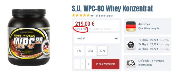 Bodybuilding-Depot WPC 80 neutral kaufen